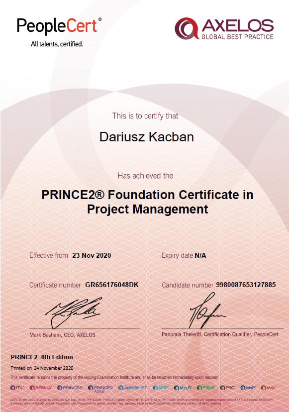 Agile PM certyfikat