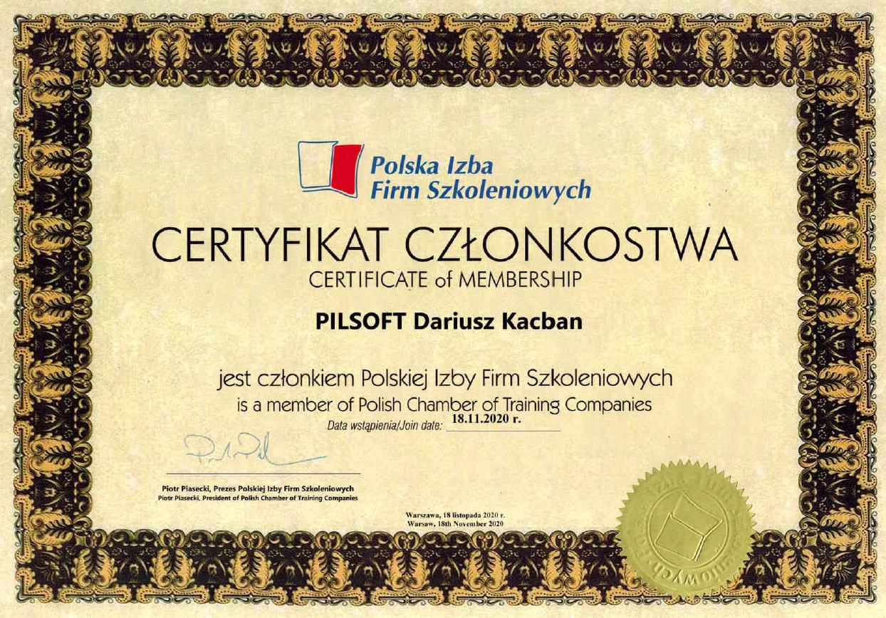 Polska Izba Firm Szkoleniowych Pilsoft