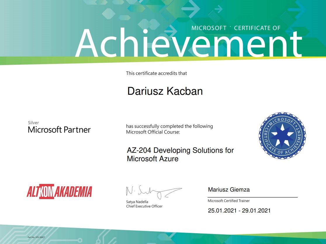 AZ-204 Dariusz Kacban Azure